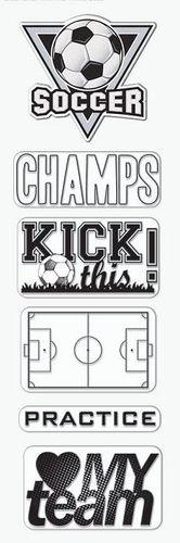 Soccer Goal Clear Vinyl Stickers