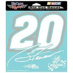 Tony Stewart # 20 White Decal