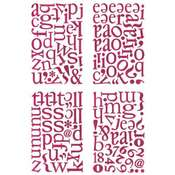 Hot Pink Chip Letter Sticker ABC's by Basic Grey