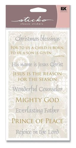Christmas Phrases Sticko Stickers