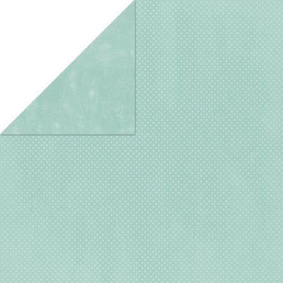 Island Mist Double Dot Cardstock - Bo Bunny