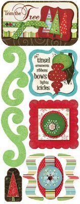 Trim The Tree CS Stickers by Bo Bunny