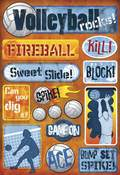 Volleyball Rocks Stickers by Karen Foster