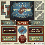 West Virginia Distressed Sticker