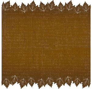 Brown Leaf Die Cut