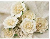 Trellis Roses Ivory by Prima