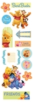 Pooh Chipboard Stickers - Sandylion
