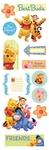 Pooh Chipboard Stickers - Sandylion