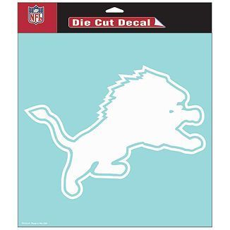 Detroit Lions NFL White Decal