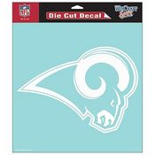 St. Louis Rams NFL White Decal