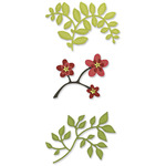 Flowers, Branches & Leaves Set Sizzlits Die Set - Sizzix