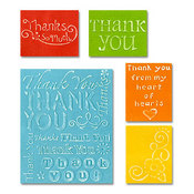 Thank You Set #2 - Sizzix Textured Impressions Embossing Folders