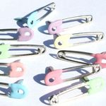 Pastel Safety Pins Brads
