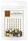 Metallics Med Glitter Brads by American Crafts