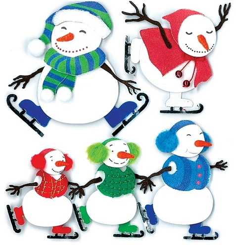 Ice Skating 3D  Stickers - Jolee's Boutique