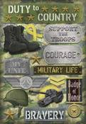 Duty To Country Stickers Stickers by Karen Foster