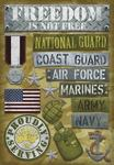 Proudly Serving Military Stickers Stickers by Karen Foster