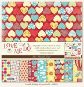 Love Me Do  & Accessories Kit 12x12 Paper - My Mind's Eye