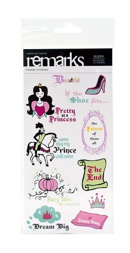 Queen Phrases Stickers by American Crafts