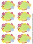 Flowers Your Labels - Mrs Grossman's Stickers