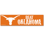 Texas Beat Oklahoma NCAA Bumper Sticker
