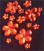 Red Pure Blossoms - Creative Charms