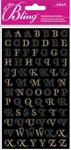 Gold Foil Mini Alphabets Bling  Stickers - Jolee's All That Bling