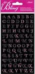 Light Pink Foil Mini Alphabets Bling  Stickers - Jolee's All That Bling