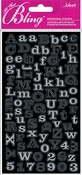 Silver Foil Mini Alphabets Bling  Stickers - Jolee's All That Bling