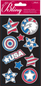 USA Outline Bling  Stickers - Jolee's All That Bling