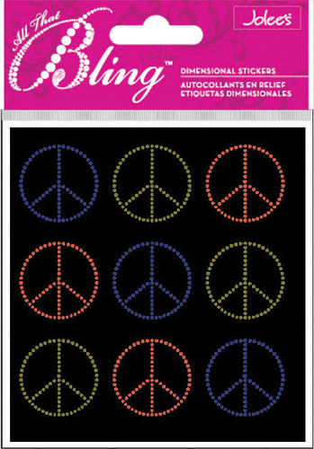 Peace Seals Bling  Stickers - Jolee's All That Bling