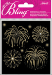 Fireworks Gold Bling  Stickers - Jolee's All That Bling