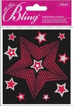 Red & Silver Stars  Stickers - Jolee's All That Bling