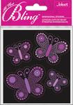 Purple Butterflies Bling  Stickers - Jolee's All That Bling