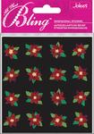 Poinsettias Mini Flowers Bling  Stickers - Jolee's All That Bling
