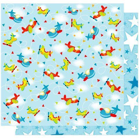 Fly High  Glitter Paper