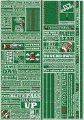 Football Quote Cardstock Stickers