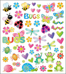 Cute Garden Bugs Stickers