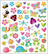 Cute Garden Bugs Stickers