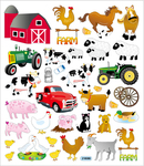 On The Farm Stickers