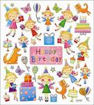 Happy Birthday Fairies Stickers
