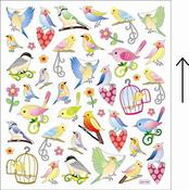 Beautiful Bright Birds Stickers