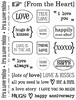 Love Sentiments Stickers - SRM Press