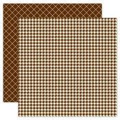 Brown Houndstooth 12x12 Paper - My Mind's Eye