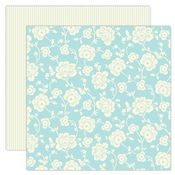 Blue Floral 12x12 Paper - My Mind's Eye