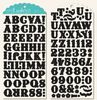 Black Chipboard Alpha Stickers