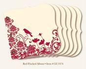 Red Finch 8x8 Flocked Chipboard Album