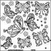 Butterflies 12 x 12 Template - Crafters Workshop