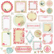 Shabby Chic Journaling CB Stickers by Prima