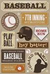7th Inning Stretch Stickers Stickers by Karen Foster